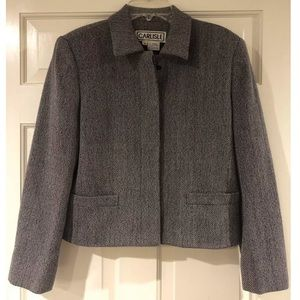 Carlisle Women's Blazer Gray Button Up Size 6